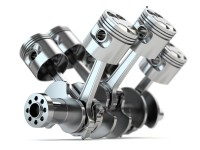 Crankshaft V6 engine