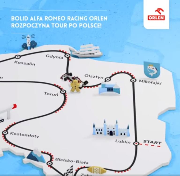 Bolid Alfa Romeo Racing ORLEN w Polsce
